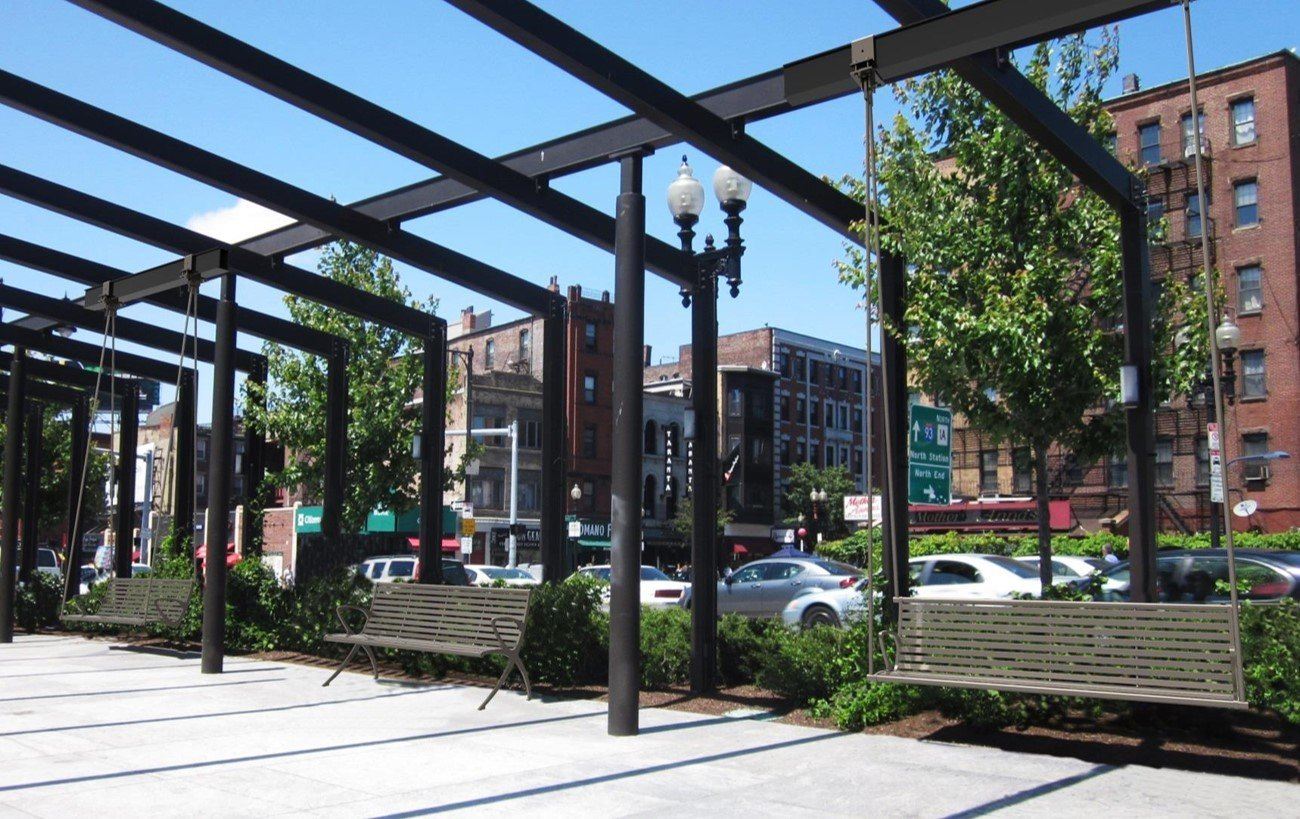 Rose Kennedy Greenway Porch Swings To Replace 8 Of 21 Benches