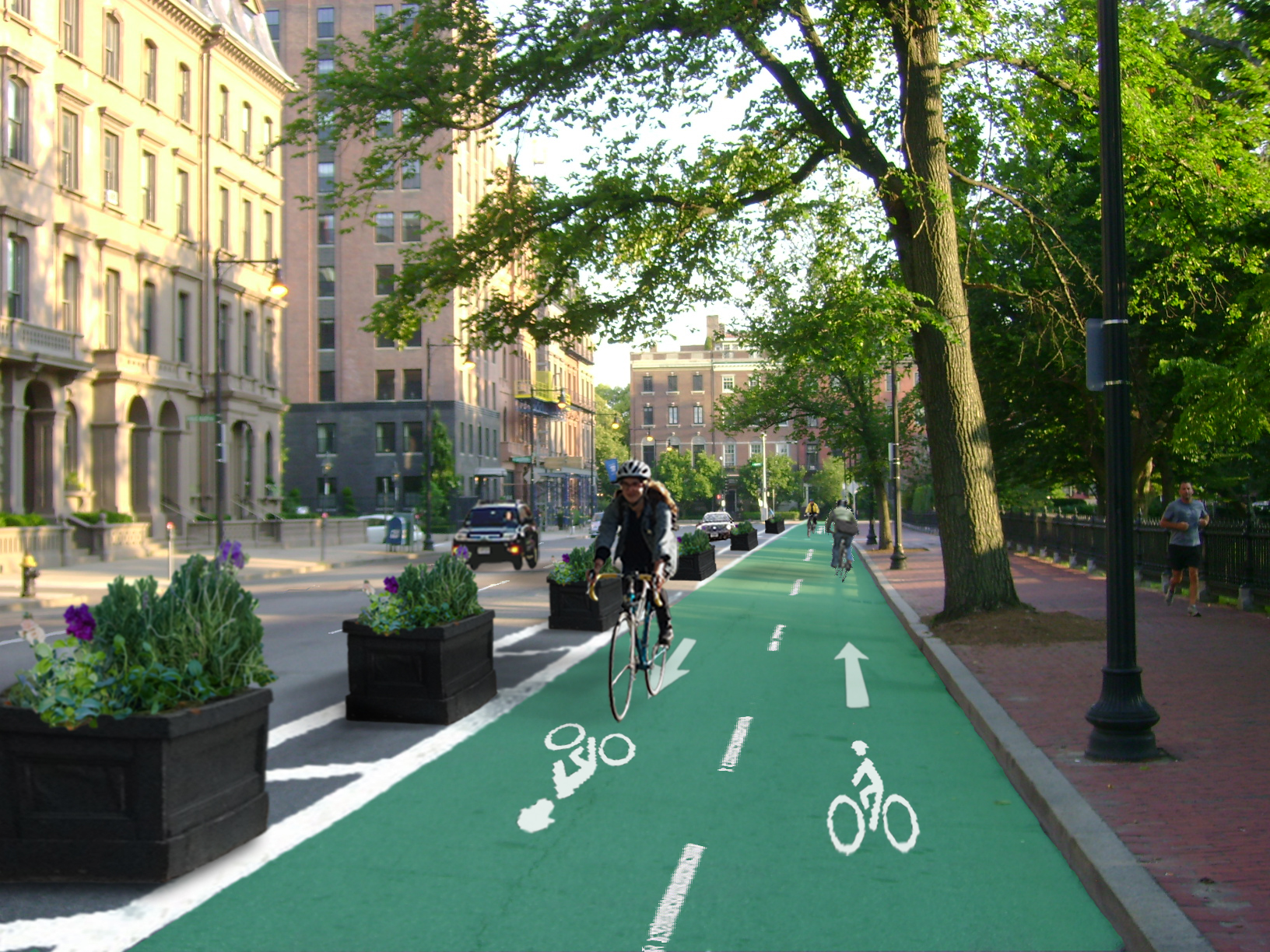 The City Plans Two Way Cycle Tracks Around Public Garden